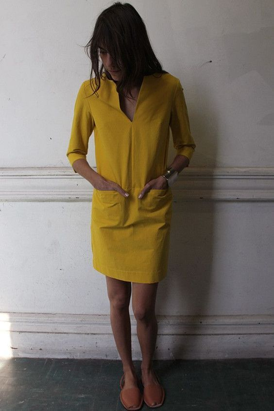 I want a shift dress like this in like 5 colors! via A well traveled woman.: