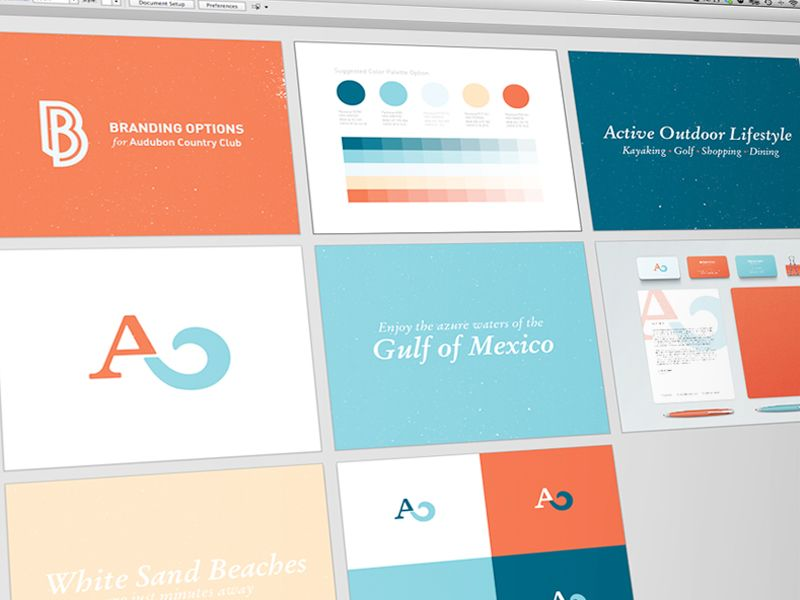 Audubon Country Club Brand Book Brand Guidelines Book Brand Book Country Club Design