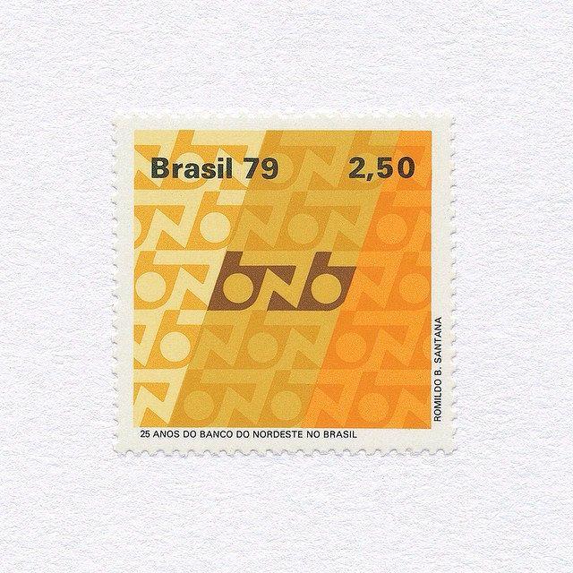 25 Years Of Bank Of North Eastern Brazil 2 50 Brazil 1979 Design Romildo B Santana Mnh Graphilately Selos Selos Postais Poster