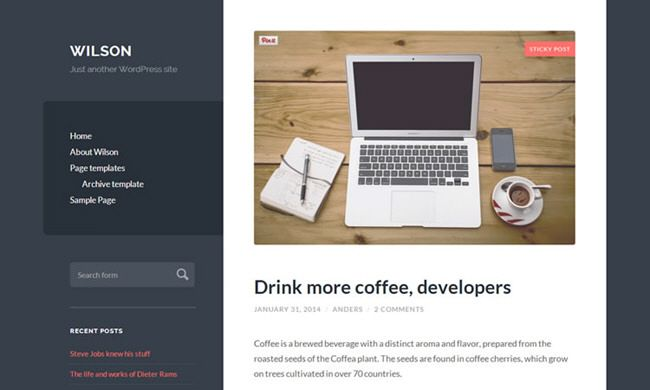 mejores themes responsive wordpress gratis wilson | Diseño gráfico ...