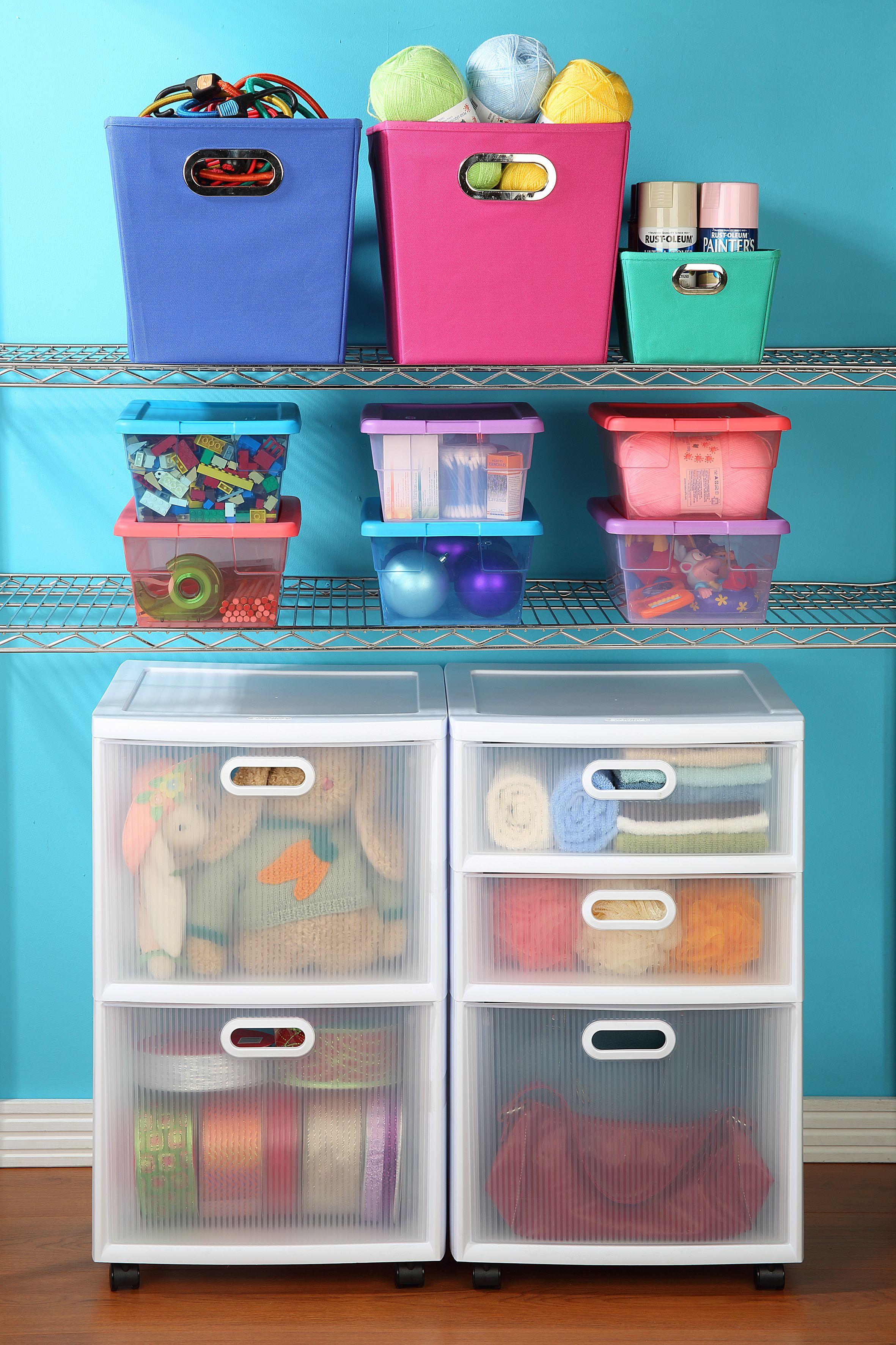 Carro Organizador 2 Cajones Cajas Organizadoras Ayudar Y  ~ Cajas Plastico Almacenaje Baratas