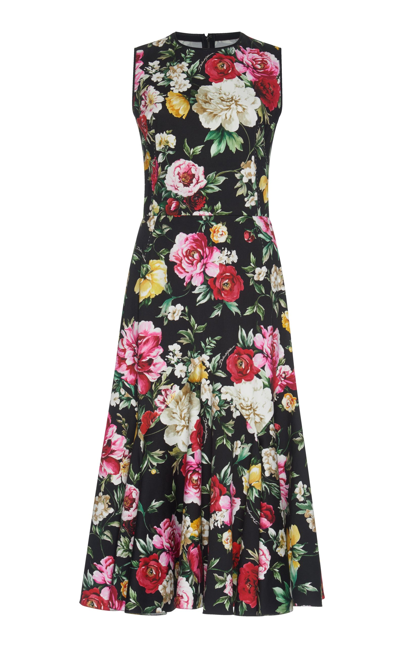 Printed stretch-cotton dress Dolce & Gabbana YLkjmaYTpq