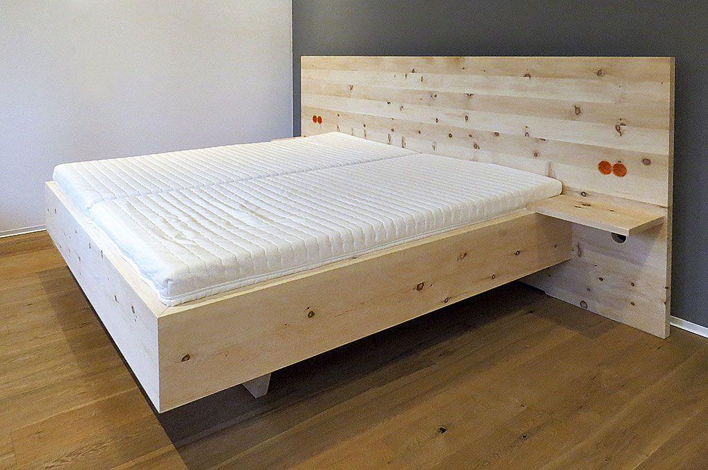Handgefertigtes Massivholz Bett, Unikate Aus Zirbenholz, Schlafzimmer  Einrichtung Möbel Natur Natürlich ökologisch Zirbenholz,