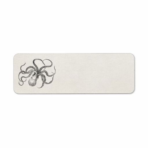 reviews Vintage Octopus Template on Antique Paper Custom Return