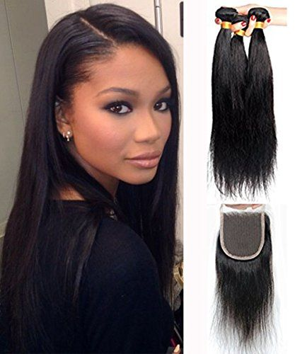 Mike Mary Brazilian Straight Hair Weaves With Lace Closure Free Part Virgin Remy Cheap Human Ha Weave Hairstyles Straight Weave Hairstyles Straight Hairstyles