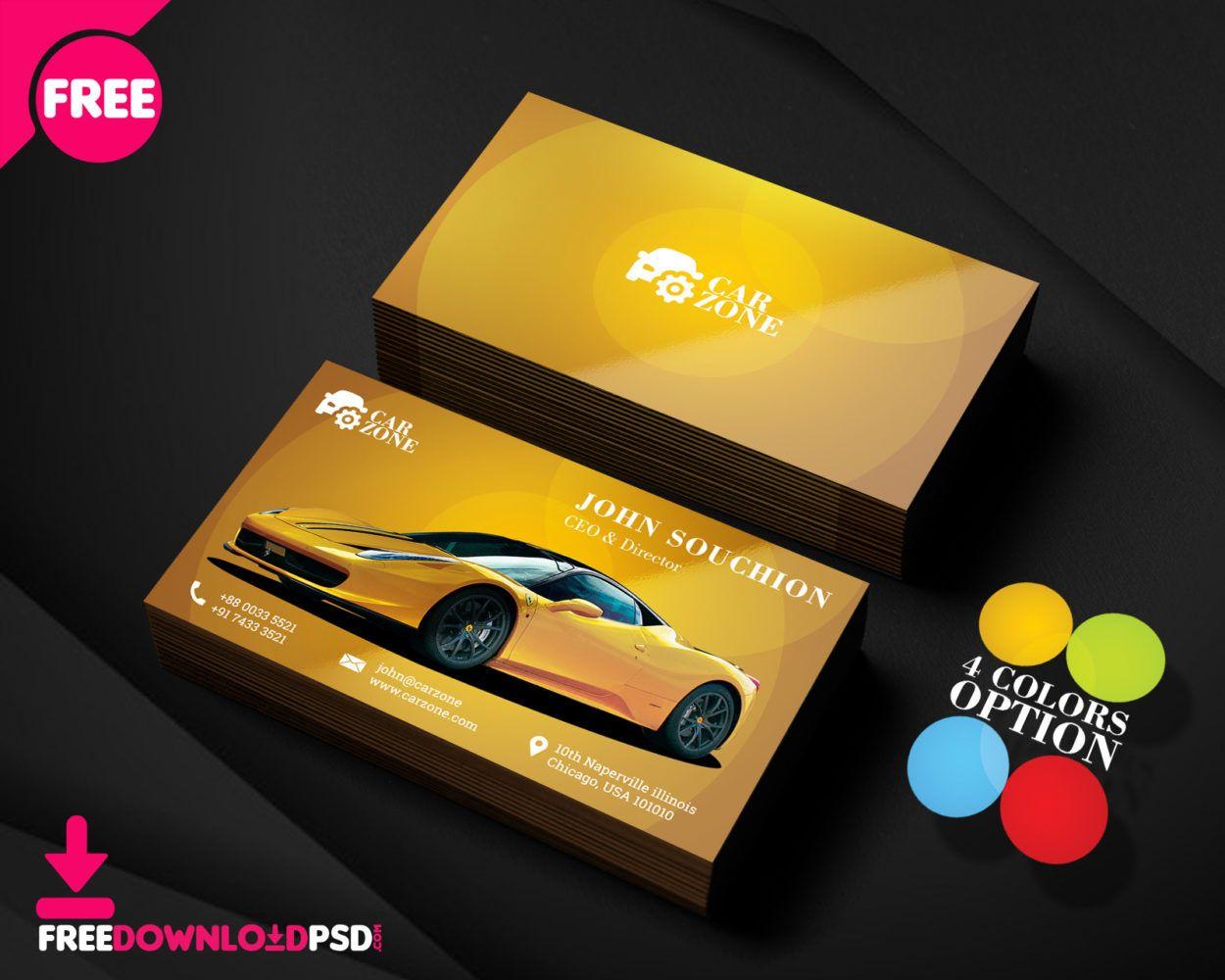 Automotive Business Card Templates Psd Free Business Card Templates Business Card Template Psd Card Templates Free