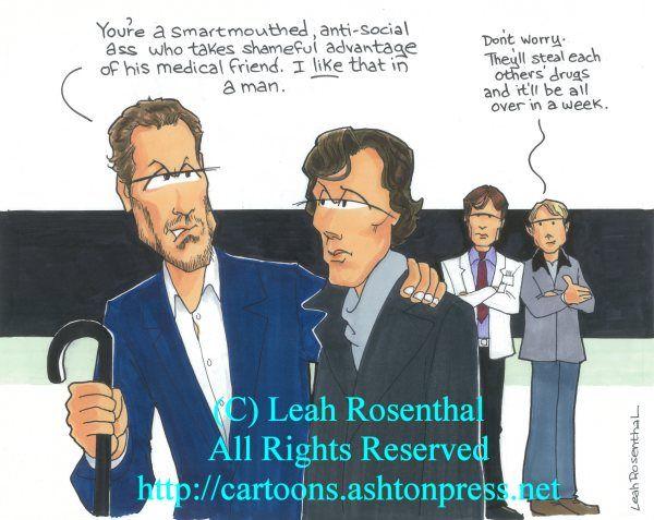 House meets BBC's Sherlock! http://cartoons.ashtonpress.net/