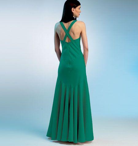 Vogue Patterns 8814 Misses\' Dress | Konzert, Rock und Abendkleid