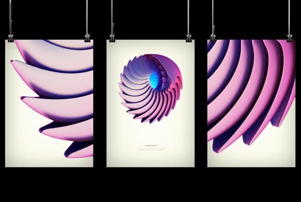 Revolved forms by Črtomir Just, via Behance