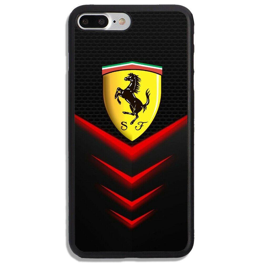 Ferrari Logo Red Light Print On Hard Cover Phone Case For Iphone 7 Plus Unbranded Ferrariscuderia Ferrariscuderiared Logotipo De Ferrari Ferrari Logotipos