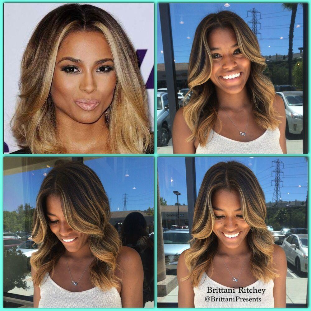 Carmel Balayage Highlights Ciara Blonde Hair Blondes Pinterest