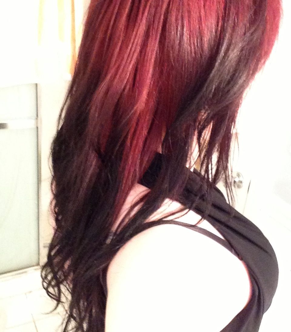 Red to black ombre cabello pinterest black ombre ombre and