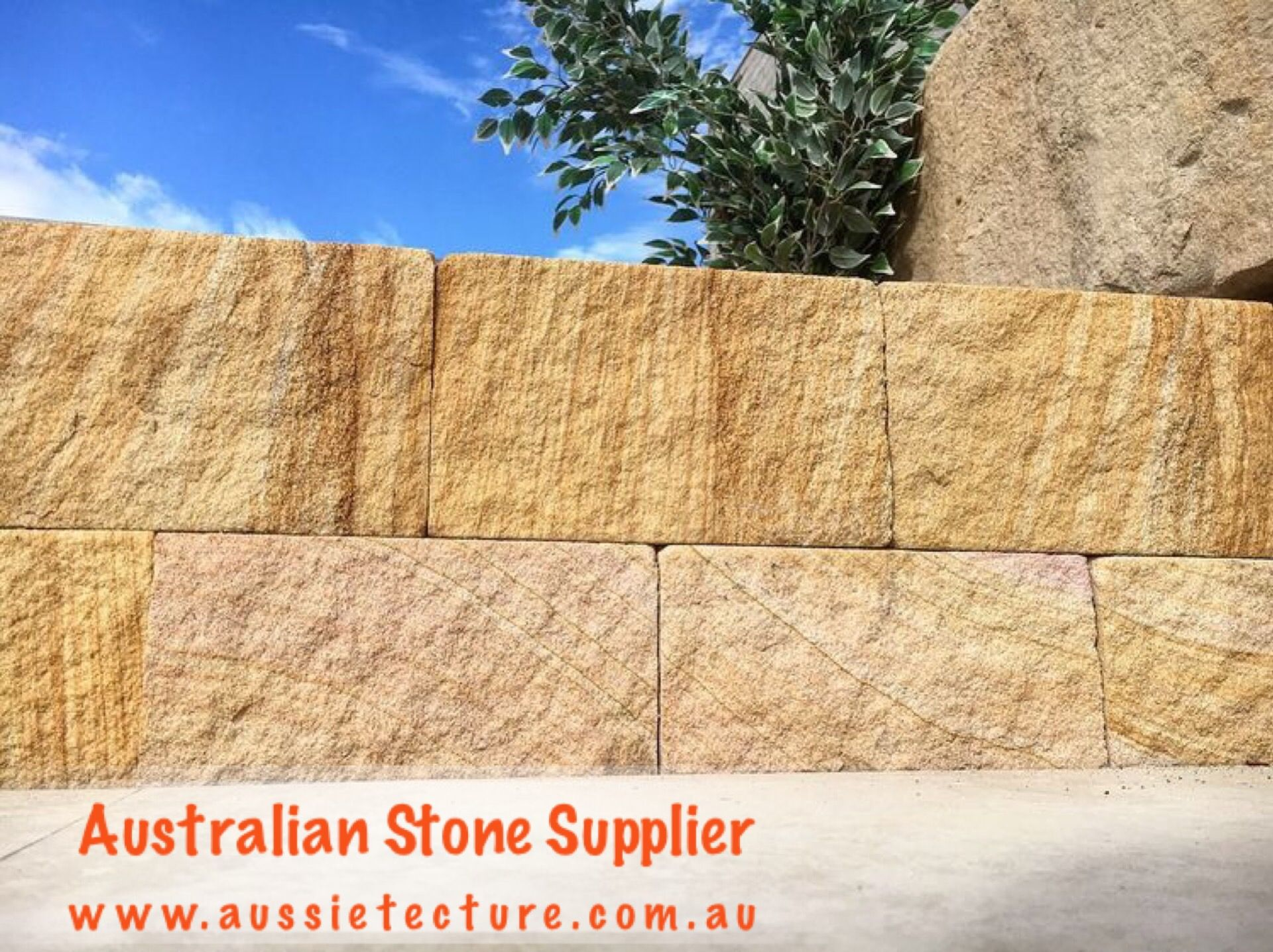 Australian sandstone bricks. Sandstone logs. Sandstone wall ...