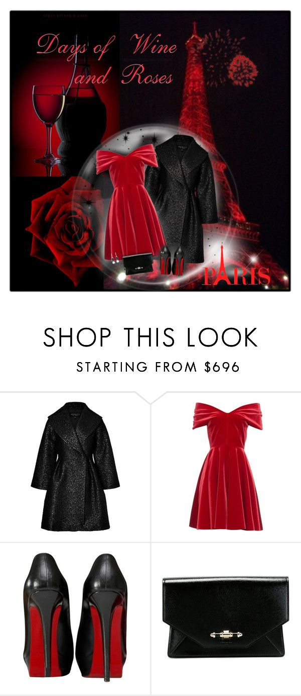 """Days of Wine & Roses"" by helenehrenhofer ❤ liked on Polyvore featuring Giambattista Valli, Emilio De La Morena, Christian Louboutin, Givenchy and Allurez"