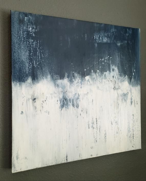 Biggest Blue 24 X 24 Abstract Painting By Amy Neal Modern Etsy Abstract Canvas Wall Art Canvas Wall Art Abstract