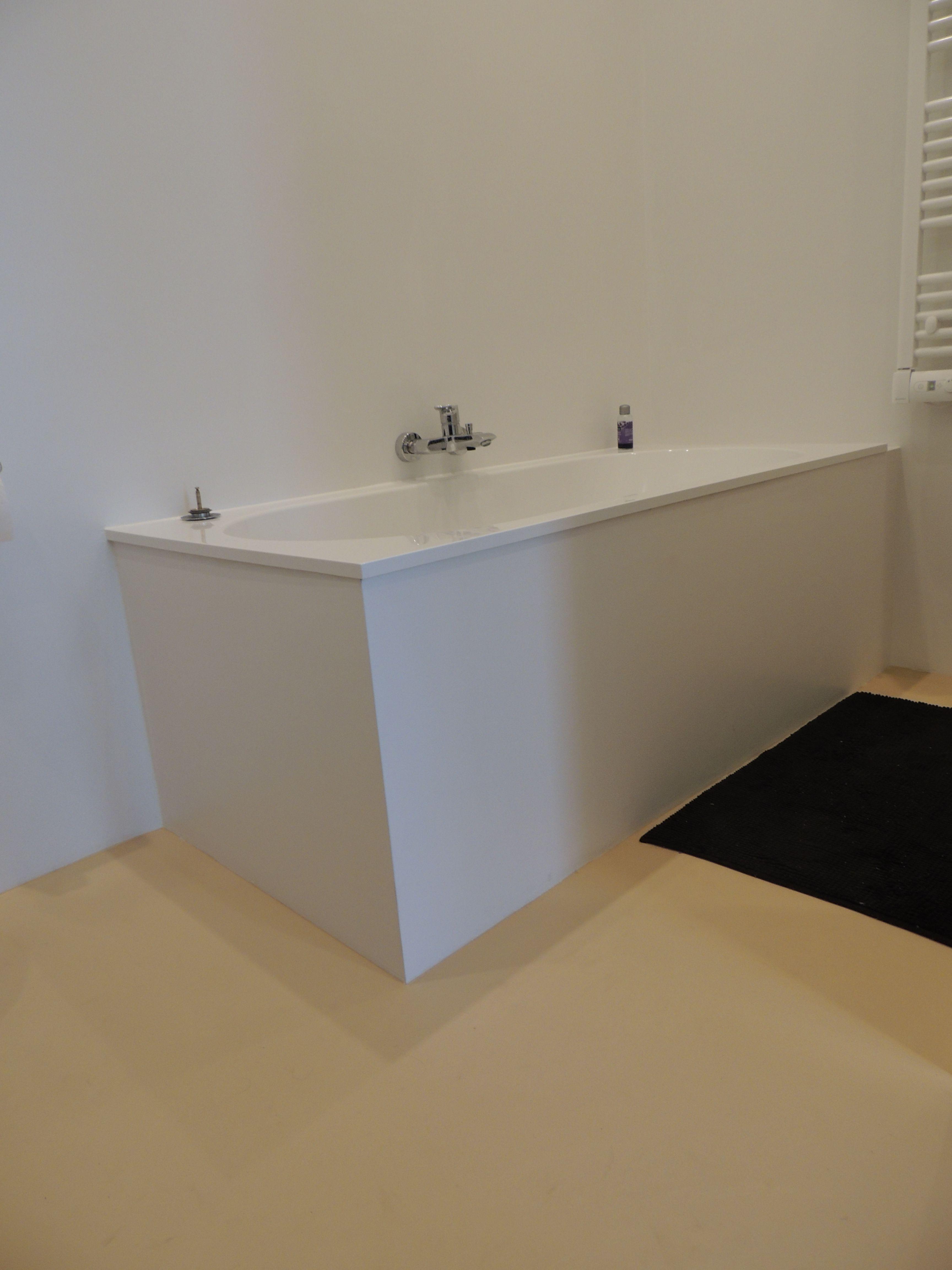 DesignGietvloer in de badkamer. Kleur Honey Tender. Geschikt op ...