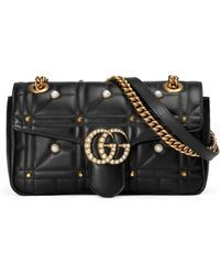 078c6c85499ced Gucci | Gg Marmont Small Pearly Shoulder Bag | Lyst ...