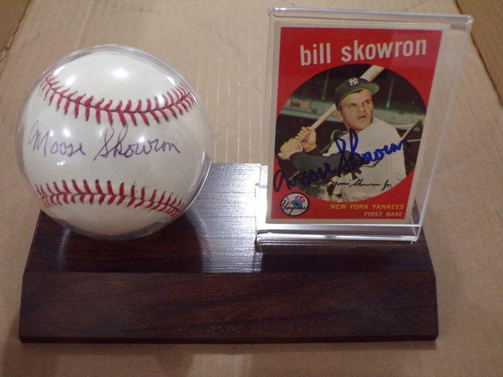 SIGNED BASEBALL & CARD BILL SKOWRON Baseball cards, Nfl