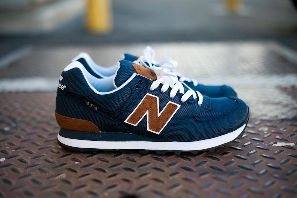 new balance 574 backpack bleu