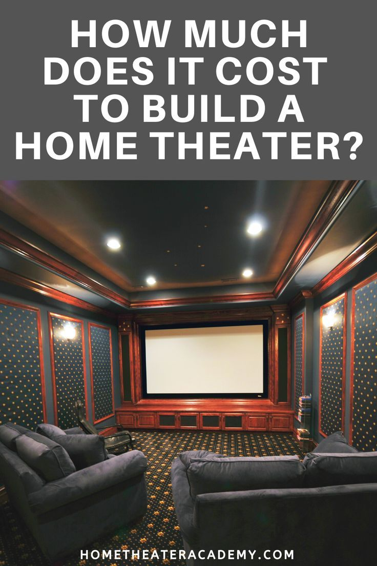 How much does it cost to build a home theater home
