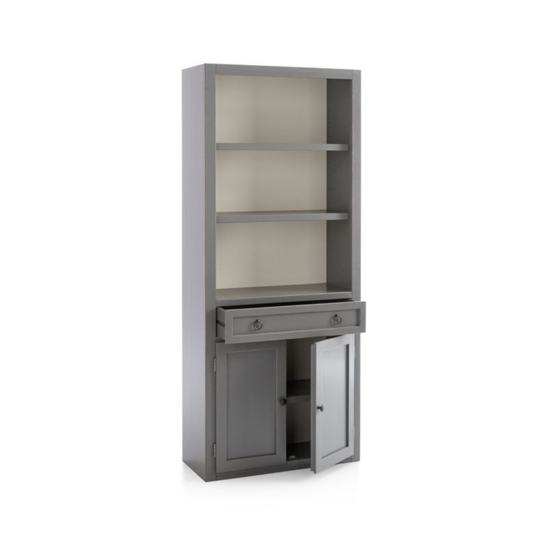 Delightful Cameo Grey Middle Storage Bookcase