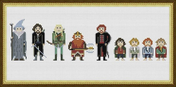 4 Shire Heads-cross stitch chart
