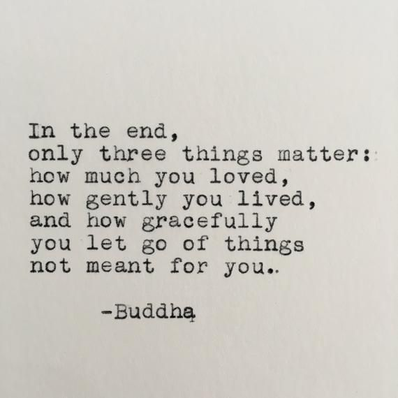 Buddha Life Quote Typed on Typewriter