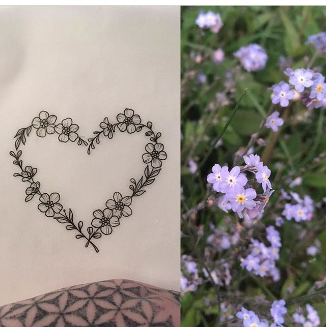 Photo of Forget Me Not Heart Tattoo by Medusa Lou Tattoo Artist – medusaloux@outloo…,  #Artist #Forg…