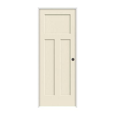 Jeld Wen 30 In X 80 In Craftsman Primed Left Hand Smooth Solid