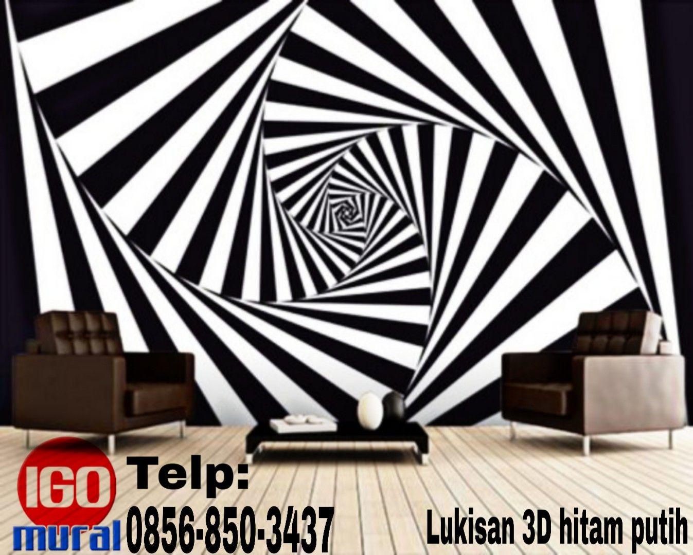 0856 850 3437 Jasa Lukisan 3d Hitam Putih Lukisan3ddindingsederhana Di Pinterest