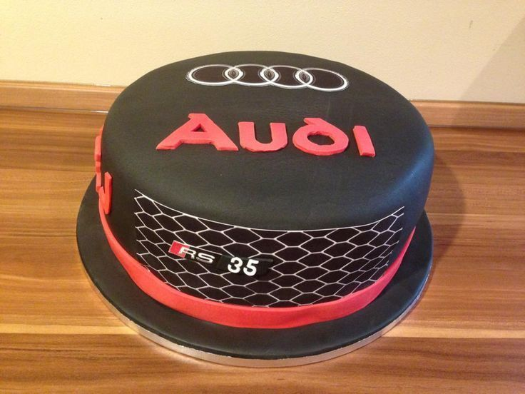 Audi cake for hubby's 40th birthday -