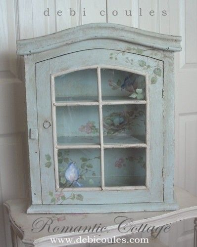 Debi Coules Shabby French Chic Art.  Painted, shabby, distressed certainly seems to be in. Wonder if it's a commentary on life?