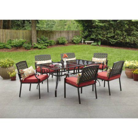 Alexandria Crossing 7 Piece Patio Dining Set Seats 6 At