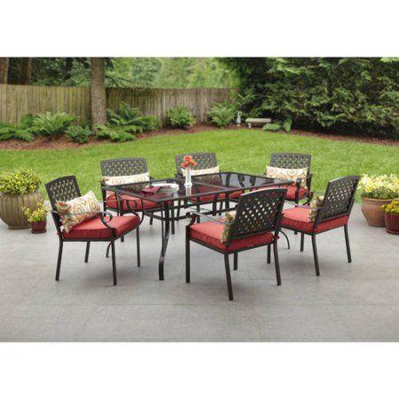 buy alexandria crossing 7 piece patio dining set seats 6 at walmartcom - Walmart Patio Dining Sets