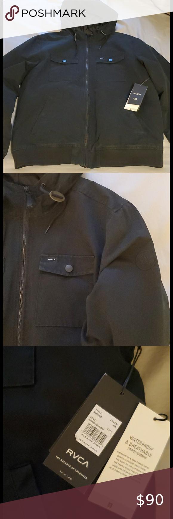 Mens Rvca Hooded Bomber Jacket Hooded Bomber Jacket Bomber Jacket Rvca Jacket [ 1740 x 580 Pixel ]
