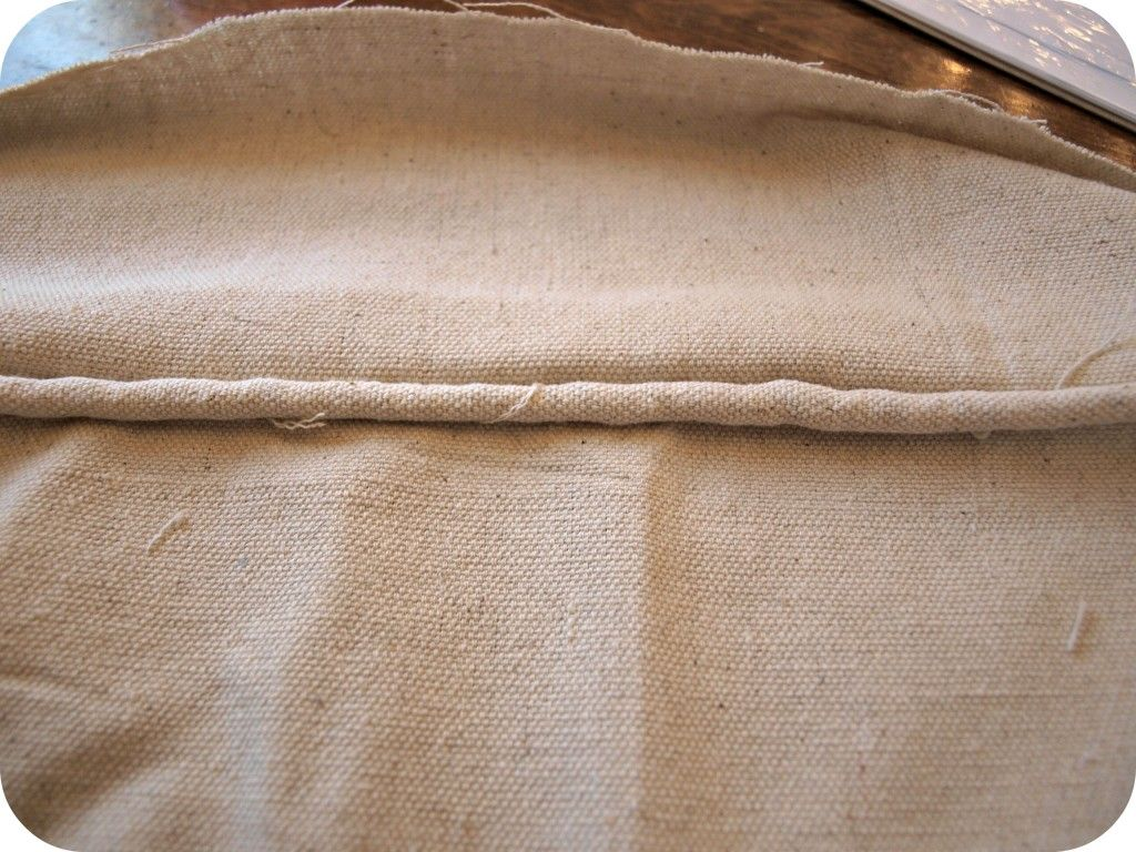 how to make cushion covers out of a canvas drop cloth