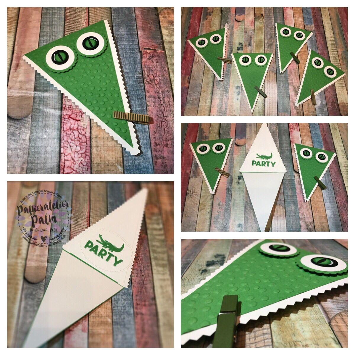 Schön Stampin Up Kindergeburtstag Krokodil Alligator Einladung Einladungskarte  Krokodilsparty Party