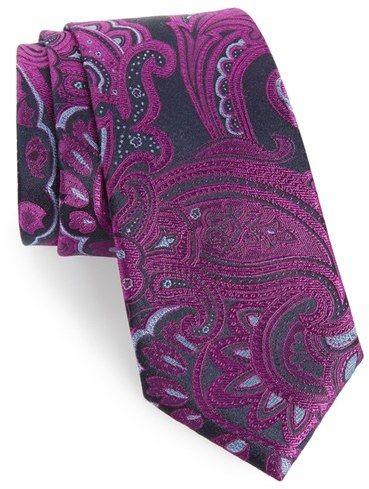 Men's Calibrate Paisley Woven Silk Tie