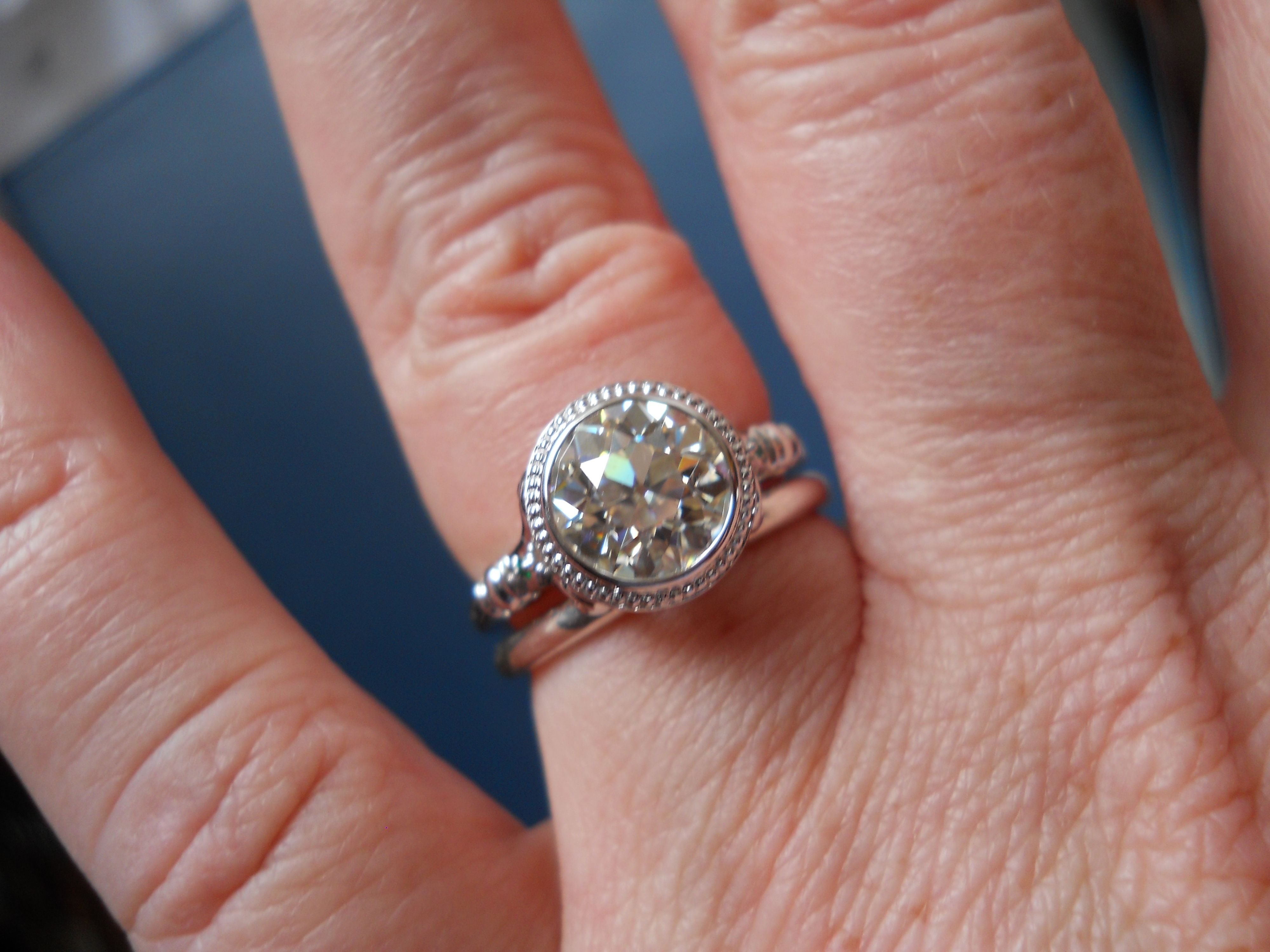 Here she is. 2ct OEC, custom made | Ring Project | Pinterest