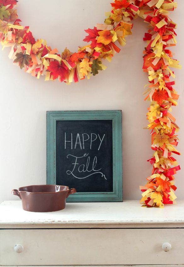 Easy Diy Fall Leaves Fringe Party Garland Fall Leaf Garland Fall Garland Diy Fall