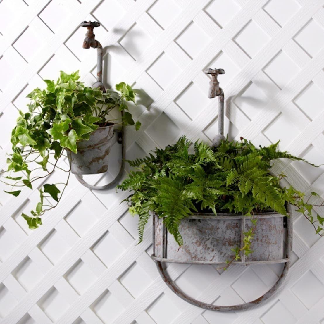 Hanging Vintage Garden Tap Planter | Home plants | Pinterest ...