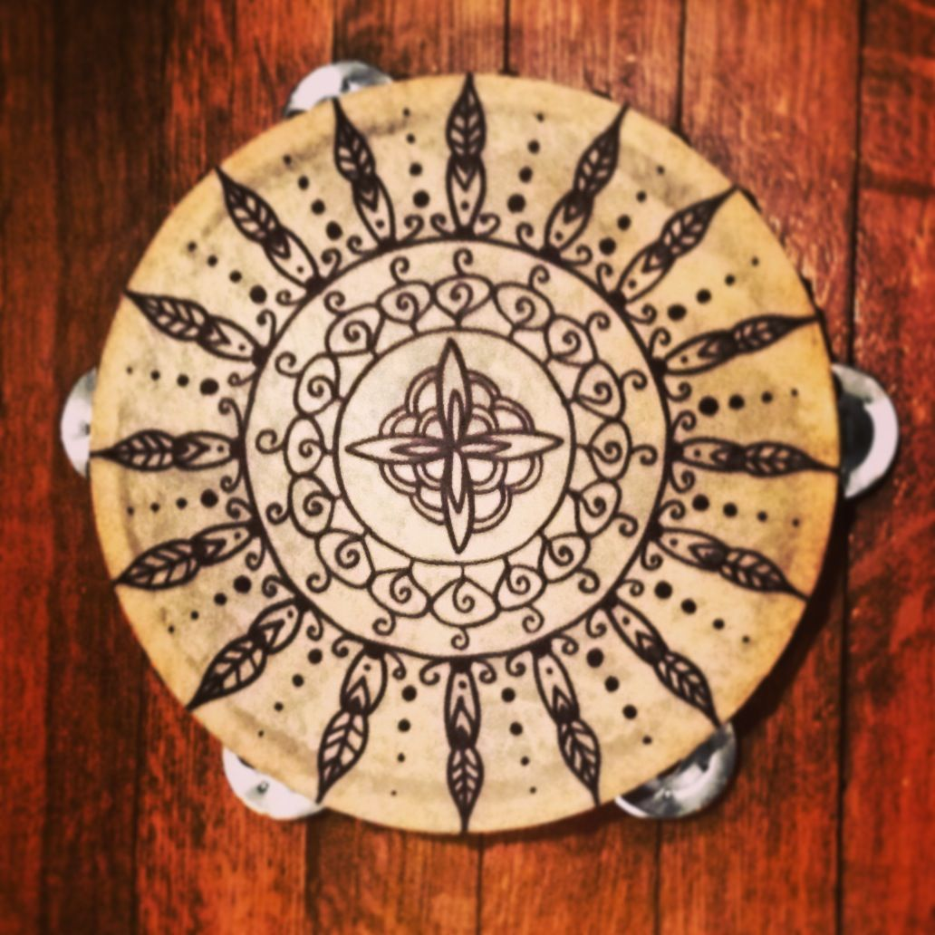 Henna tambourine by Henna Expression