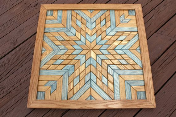 Arte de pared de madera edredón edredón de por TreeLineWoodProducts ...