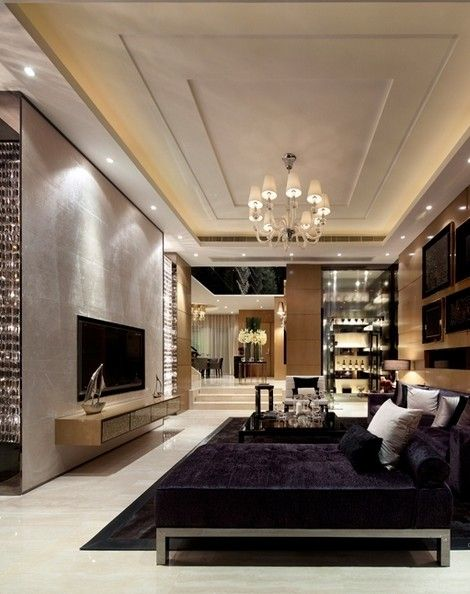 luxury living room! TV Room Pinterest Sala de estar - Techos Interiores Con Luces