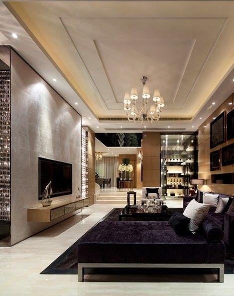 Un salon moderne design d\u0027intérieur, décoration, maison, luxe