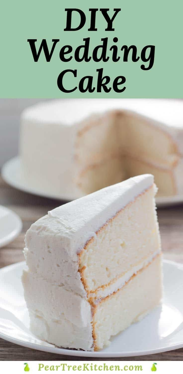 White Wedding Cake Delicious White Cake With White Buttercream Icing Tastes Like An Old Fashioned In 2020 Homemade Cake Recipes Cake Mix Desserts Banana Snack Cake