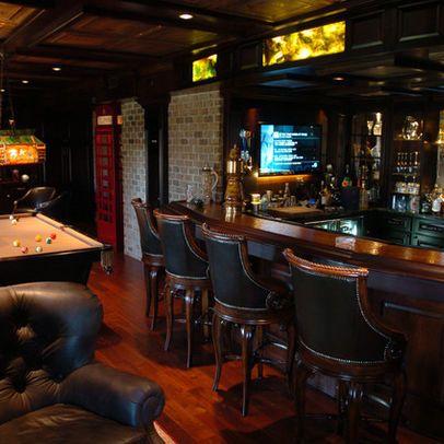 Pub Style Decor In The Rec Room Love, Pub Style Basement
