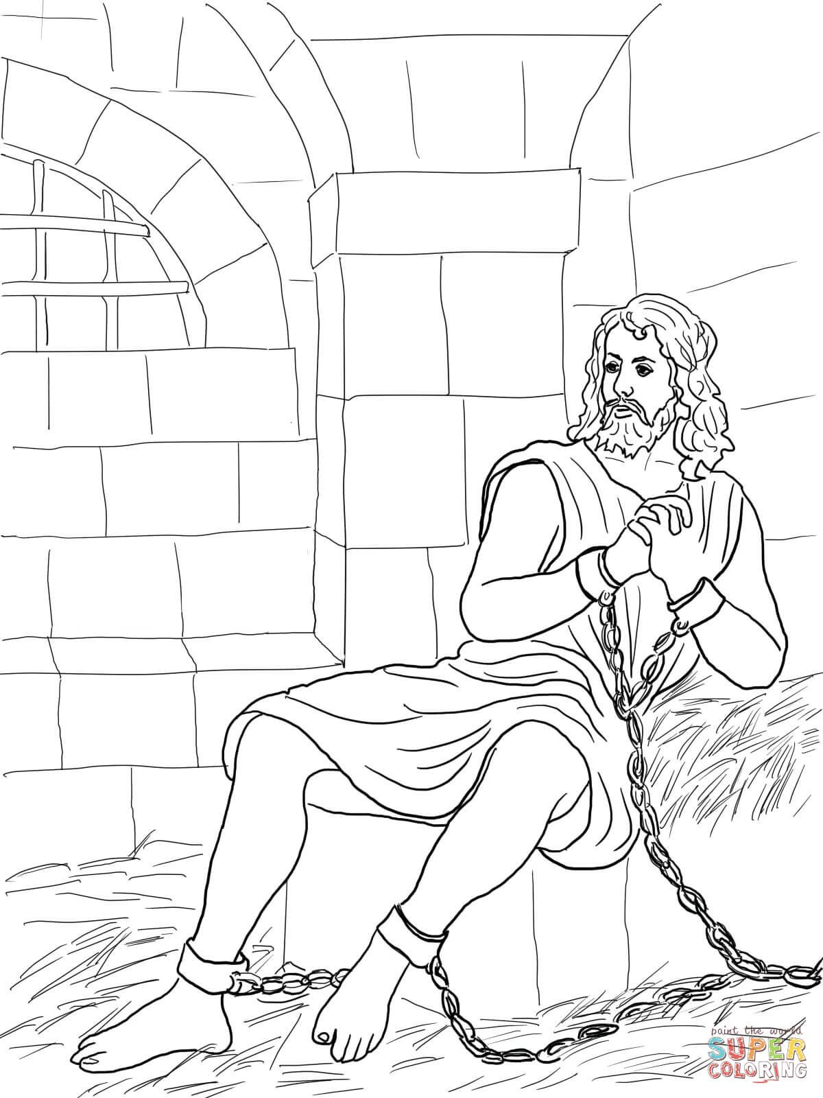 John The Baptist In Prison Coloring Page Free Printable Coloring Pages Printable Coloring Pages Printable Christmas Coloring Pages Nativity Coloring Pages