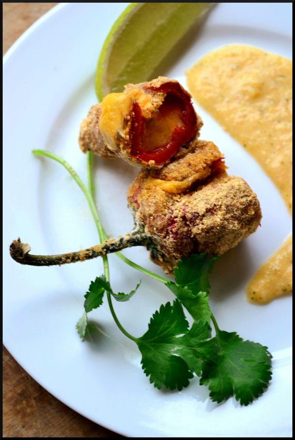Jalapeño Poppers 5 Star Junk Food with Mango and Grapefruit Salsa Crème @Magicalspice