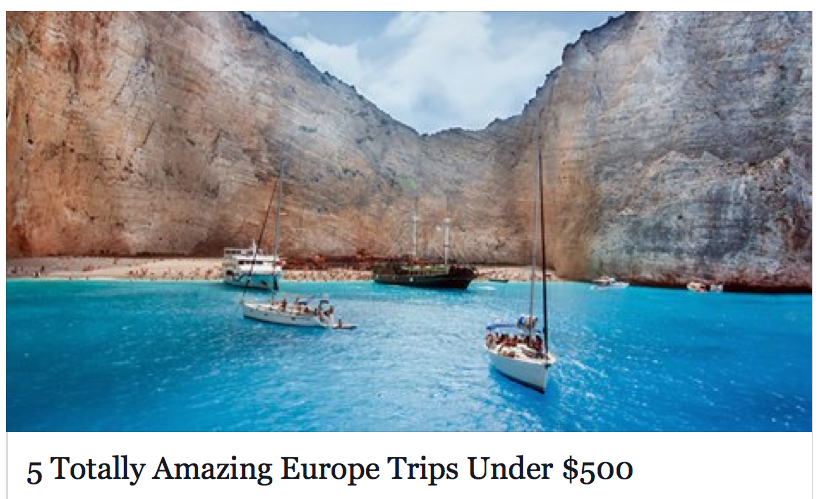 Totally Amazing Europe Trips Under European Vacation - Inexpensive trips